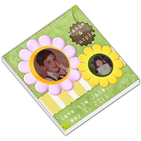 Save The Date  By Pornphan Supradit   Small Memo Pads   11ldy1gft2m3   Www Artscow Com