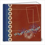 8x8 Album- Red, White & Blue - 8x8 Photo Book (20 pages)