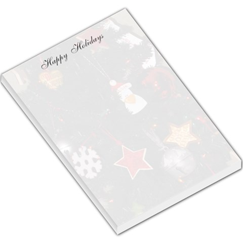 Happy Holidays Notepad By Nancy   Large Memo Pads   Afhl995ddph0   Www Artscow Com