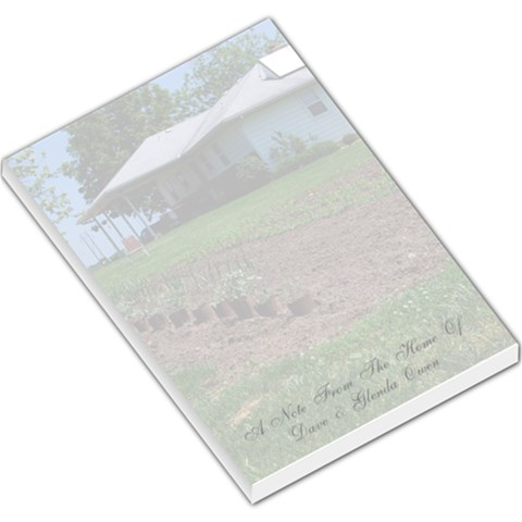 Lg Memo Pad Mom & Dad House Garden By Genni   Large Memo Pads   3wmxa8mbmh0z   Www Artscow Com