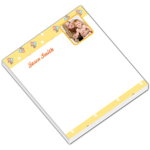 Yellow Floral Border & Footer By Gary Bush   Small Memo Pads   N5x1vj3mn1v3   Www Artscow Com
