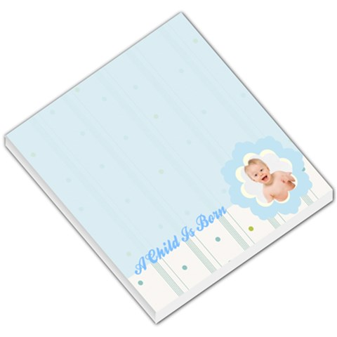 Baby Blue Stripes And Dots Footer By Gary Bush   Small Memo Pads   X1bhhqgdtgtp   Www Artscow Com