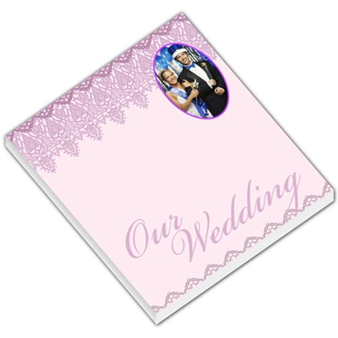 Purple Patterned Wedding By Gary Bush   Small Memo Pads   X2zri3far6sw   Www Artscow Com