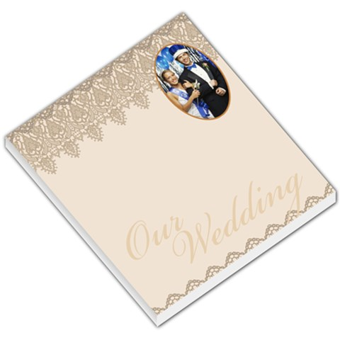 Grey Patterned Wedding By Gary Bush   Small Memo Pads   101dvp3mdeds   Www Artscow Com