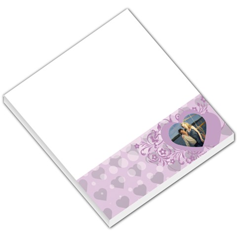 Purple Hearts White Dots By Gary Bush   Small Memo Pads   Iukc9q9kuq75   Www Artscow Com