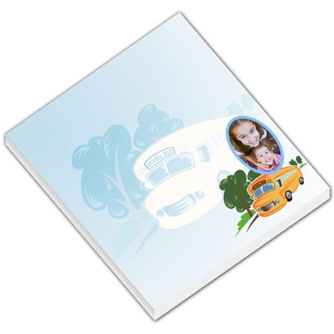 School Bus Baby Blue Background By Gary Bush   Small Memo Pads   Bktbyjf4fv4x   Www Artscow Com