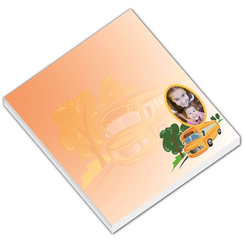School Bus Orange Background By Gary Bush   Small Memo Pads   F7ya42zmgp00   Www Artscow Com