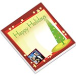 Happy Holidays Christmas Tree Red Border - Small Memo Pads