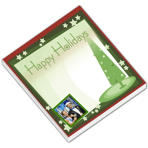 Happy Holidays Christmas Tree By Gary Bush   Small Memo Pads   2bl8gkonlvts   Www Artscow Com