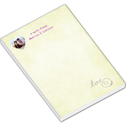Custom Large Notepad By Joni Ellsworth   Large Memo Pads   At37d42v18bf   Www Artscow Com