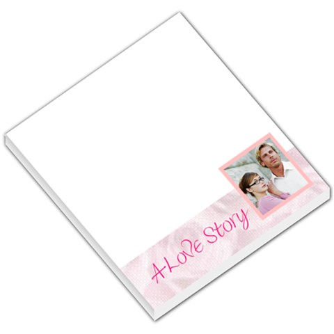 Love Story Pink Footer By Gary Bush   Small Memo Pads   Igkiej8963bg   Www Artscow Com