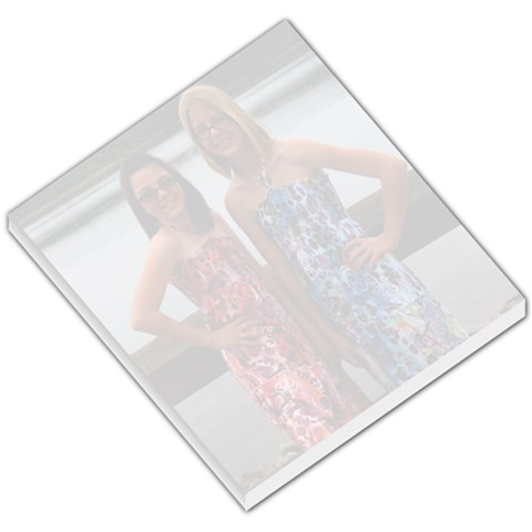 Memo Pad Created With My 2 Favorite Girlies On It    By Mindy Nolan   Small Memo Pads   8c32yipjywwt   Www Artscow Com