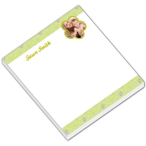Baby Green Header & Footer By Gary Bush   Small Memo Pads   Lphy83yspnjl   Www Artscow Com