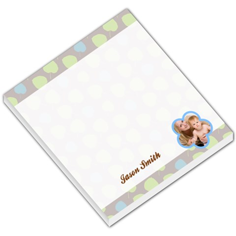Blue & Green Cherries Header & Footer By Gary Bush   Small Memo Pads   T7hw4kia7gbe   Www Artscow Com