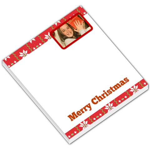Red Header & Footer With Snow Flakes By Gary Bush   Small Memo Pads   5r1lxyzlb1hz   Www Artscow Com