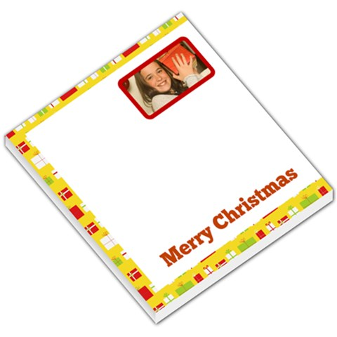Yellow Border With Gift Boxes By Gary Bush   Small Memo Pads   Xqlohty6v2c6   Www Artscow Com