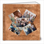 WEST FAMILY REUNION bre - 8x8 Photo Book (39 pages)