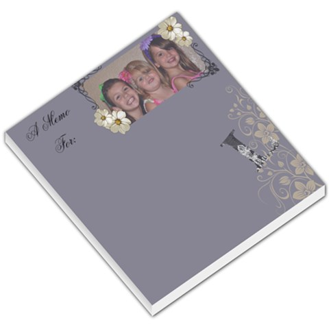 The Girls Memo Pad By Lindsay Sorce   Small Memo Pads   0q0sx10tvdau   Www Artscow Com