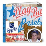 Fielding s baseball birthday book - 8x8 Photo Book (20 pages)
