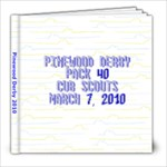 Pinewood derby book - 8x8 Photo Book (20 pages)