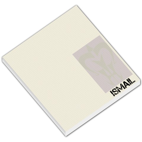 Ismail Notepad By Mubeena   Small Memo Pads   Sjy243syvkva   Www Artscow Com