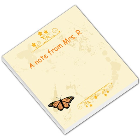 Mrs  R Memo Pad By Melissa Richardson   Small Memo Pads   Jzllpnvzr3wi   Www Artscow Com