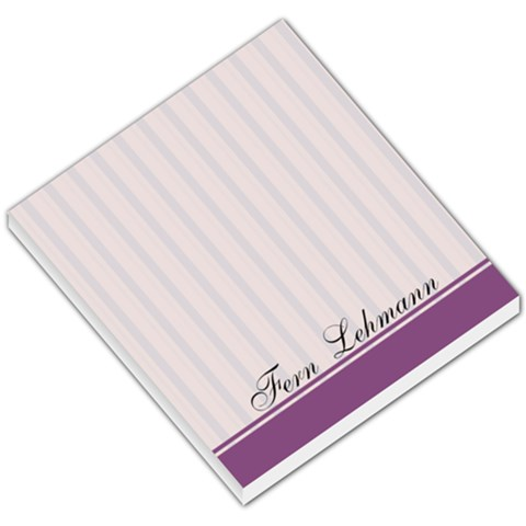 Purple Line Background By Fern Hobbs Lehmann   Small Memo Pads   C24zceneqdba   Www Artscow Com