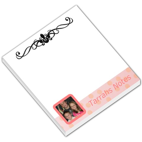 Pink Theme By Tarrah Vandenberg   Small Memo Pads   Ucetgxdkcnna   Www Artscow Com