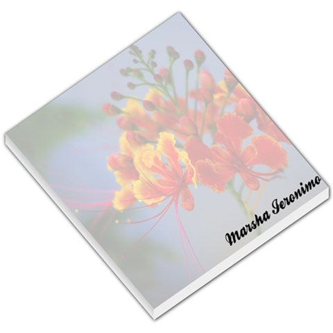 Flower 009 By Marsha Ieronimo   Small Memo Pads   M3gerejefqhy   Www Artscow Com