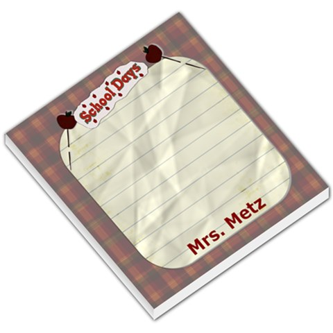 Mrs  Metz Christmas Gift By Danielle Christiansen   Small Memo Pads   N89zfinbe6j2   Www Artscow Com