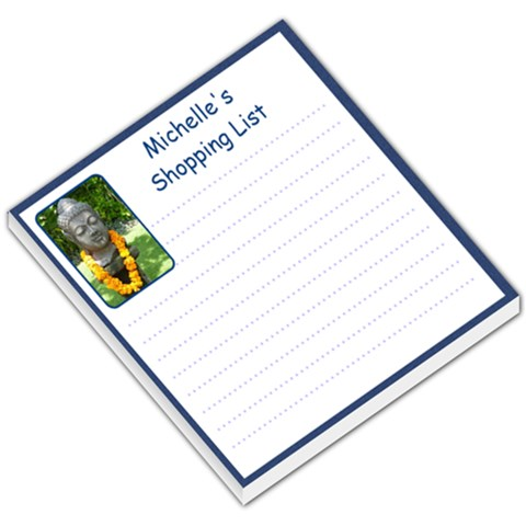 My Shopping List By Michelle   Small Memo Pads   A7wxy6x1iz4r   Www Artscow Com