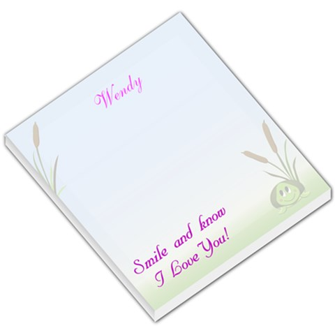 Shion Turtle  Wendy s By Wendy Riddle   Small Memo Pads   Scy73qhh22vq   Www Artscow Com