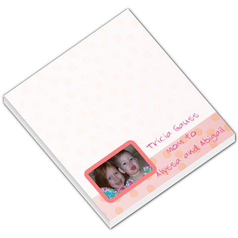 Pink Theme By Tricia Gauss   Small Memo Pads   C9jlt81sbygg   Www Artscow Com
