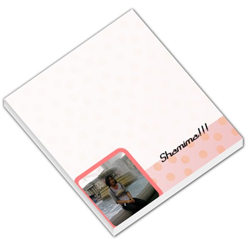 Pink Theme By Shams Ahmed   Small Memo Pads   58knt6qvc6kx   Www Artscow Com