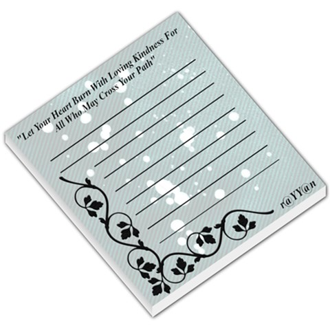 All Who May Cross By Tia Wallner   Small Memo Pads   Lx3tnocm5qhh   Www Artscow Com