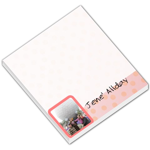 Photo Pad By Cj Allday   Small Memo Pads   06qw21b6csqv   Www Artscow Com