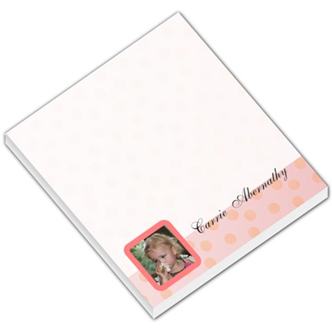 Pink Theme Memo Pad By Carrie   Small Memo Pads   R17wpbdz8nj2   Www Artscow Com