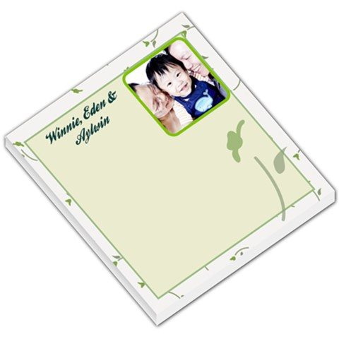 Flower 002 By Winnie Yu   Small Memo Pads   V4xprjpo2ex7   Www Artscow Com