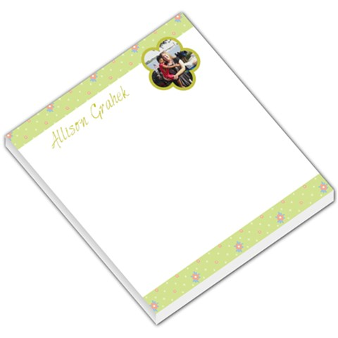Flower 004 By Allison Grahek   Small Memo Pads   Qapbjfg3utqy   Www Artscow Com