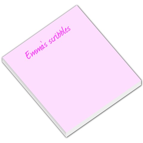 Note Pad! By Emma Bruty   Small Memo Pads   C4tt6csn700z   Www Artscow Com