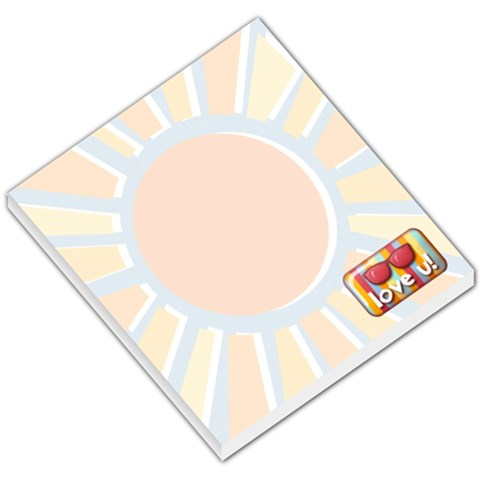 Memo Pad, Summer Sun, Love You By Mikki   Small Memo Pads   78wosvaqn8di   Www Artscow Com