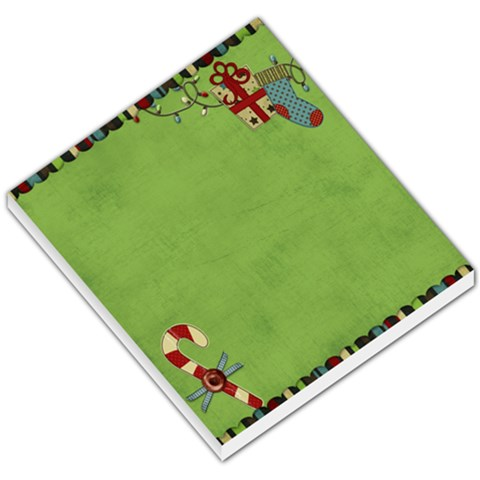 Holly Jolly Memo Pad By Sheena   Small Memo Pads   Ouk1o735wdqr   Www Artscow Com