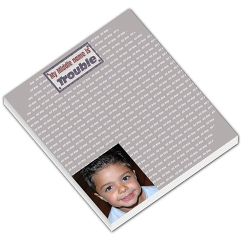 Boy Template By Danielle Christiansen   Small Memo Pads   Fqh00fqcflny   Www Artscow Com