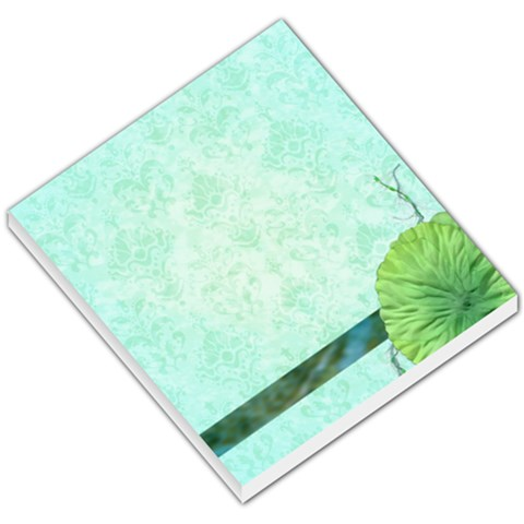 Turquoise Flower Memo Pad By Klh   Small Memo Pads   Oxiu01x6addc   Www Artscow Com
