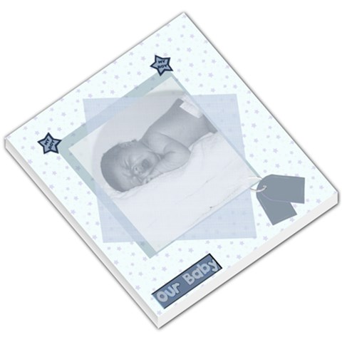 Our Baby Boy Memo Pad By Danielle Christiansen   Small Memo Pads   6xi9g677t3hr   Www Artscow Com