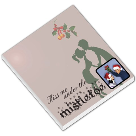 Kiss Me Under The Mistletoe   Memopad By Carmensita   Small Memo Pads   F7s4ggffkttv   Www Artscow Com