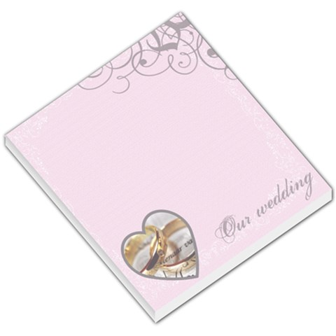 Our Wedding   Memo Pad By Carmensita   Small Memo Pads   9a8iv1l52rr4   Www Artscow Com