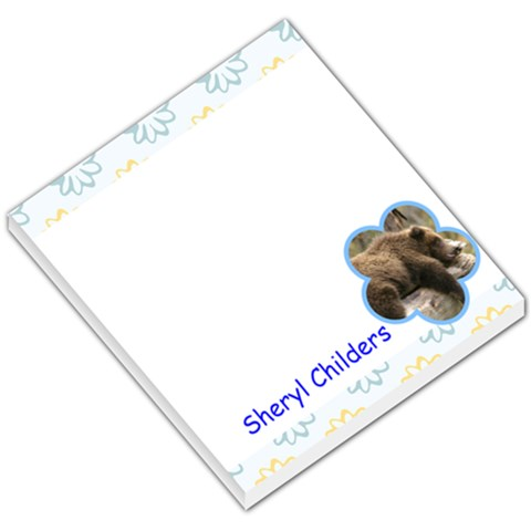Flower 005 By Sheryl Childers   Small Memo Pads   Hlt7co9ogtaf   Www Artscow Com