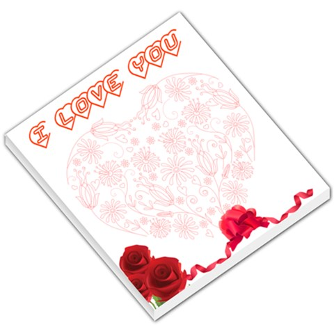 I Love You By Ashwin   Small Memo Pads   Vvlxdiy2qq22   Www Artscow Com