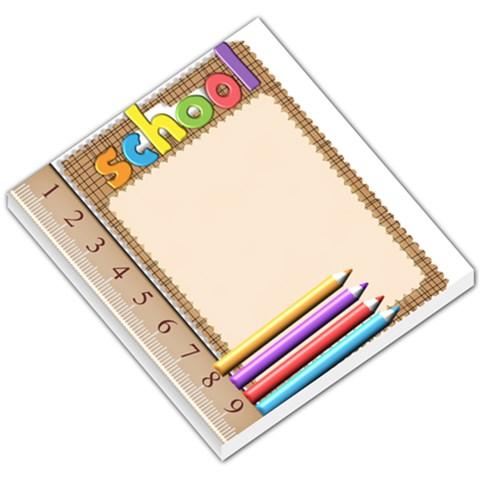 School Memo Pad By Ashwin   Small Memo Pads   G9hhj8l0wmsh   Www Artscow Com